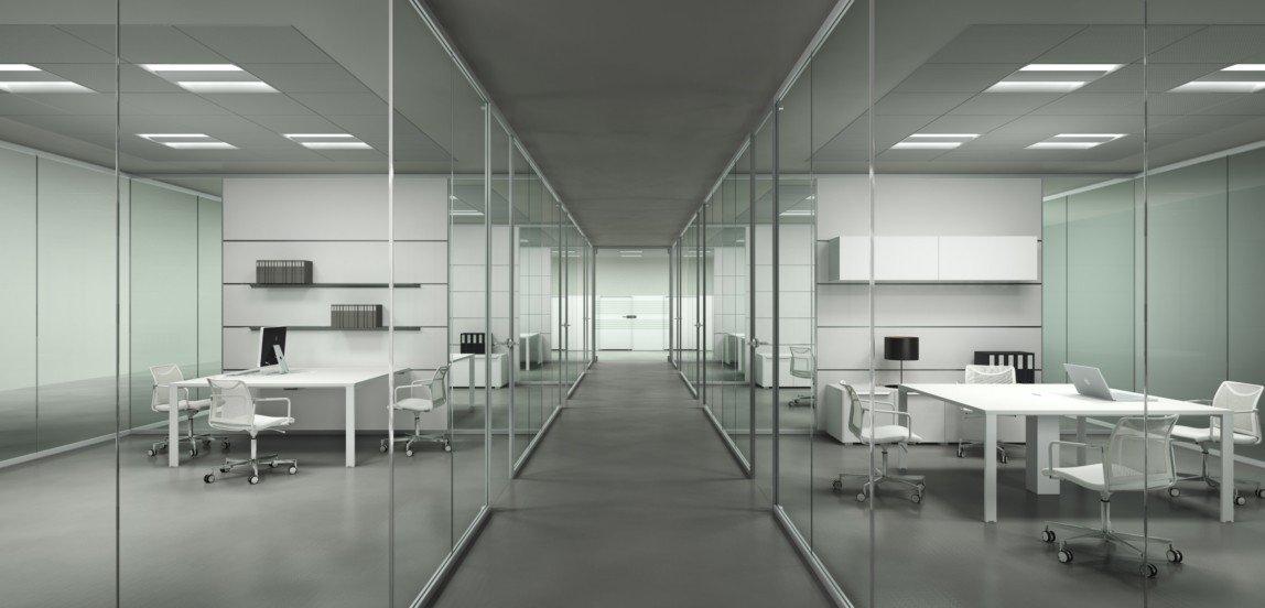 Pareti Divisorie_Mono vetro Frezza Kristal Evo